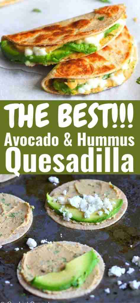 Mini Avocado & Hummus Quesadilla Recipe {Healthy Snack}   Cookin' Canuck