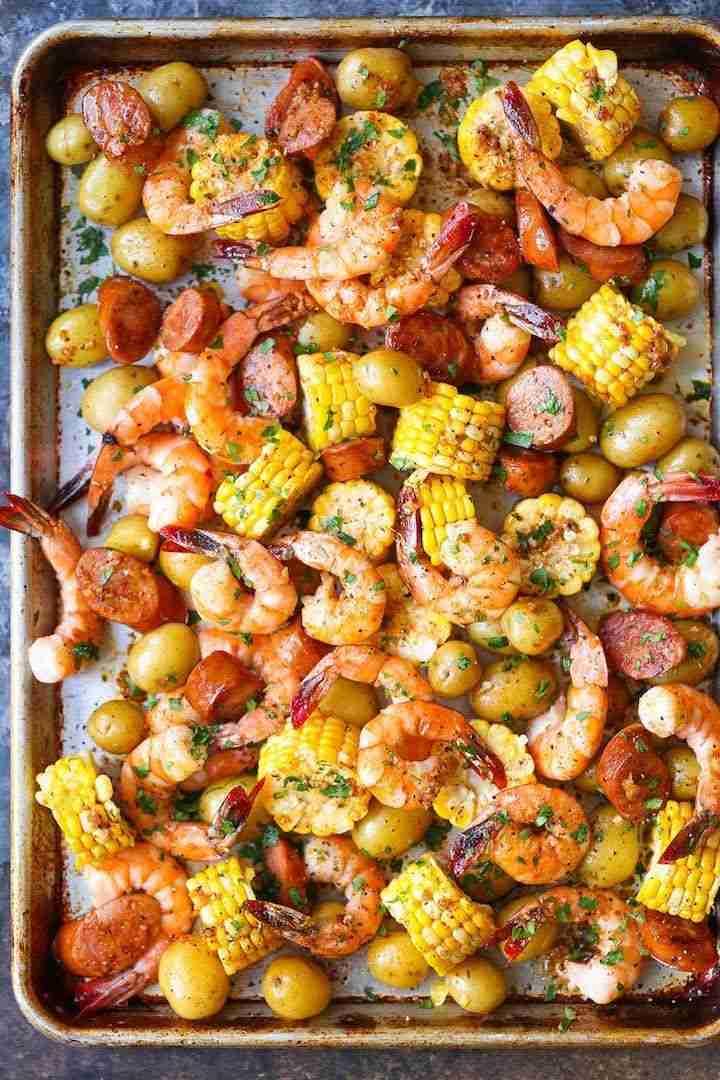 Sheet Pan Shrimp Boil – Damn Delicious