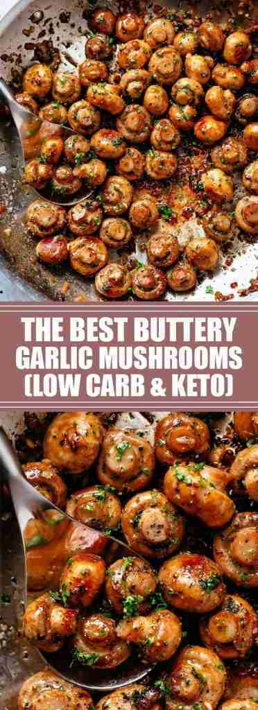 The Best Buttery Garlic Mushrooms (Low Carb & Keto)