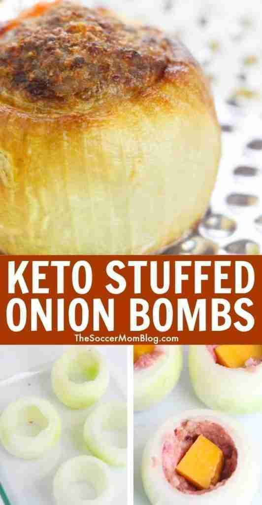 These Keto Stuffed Onion Bombs are literally the BOMB!!