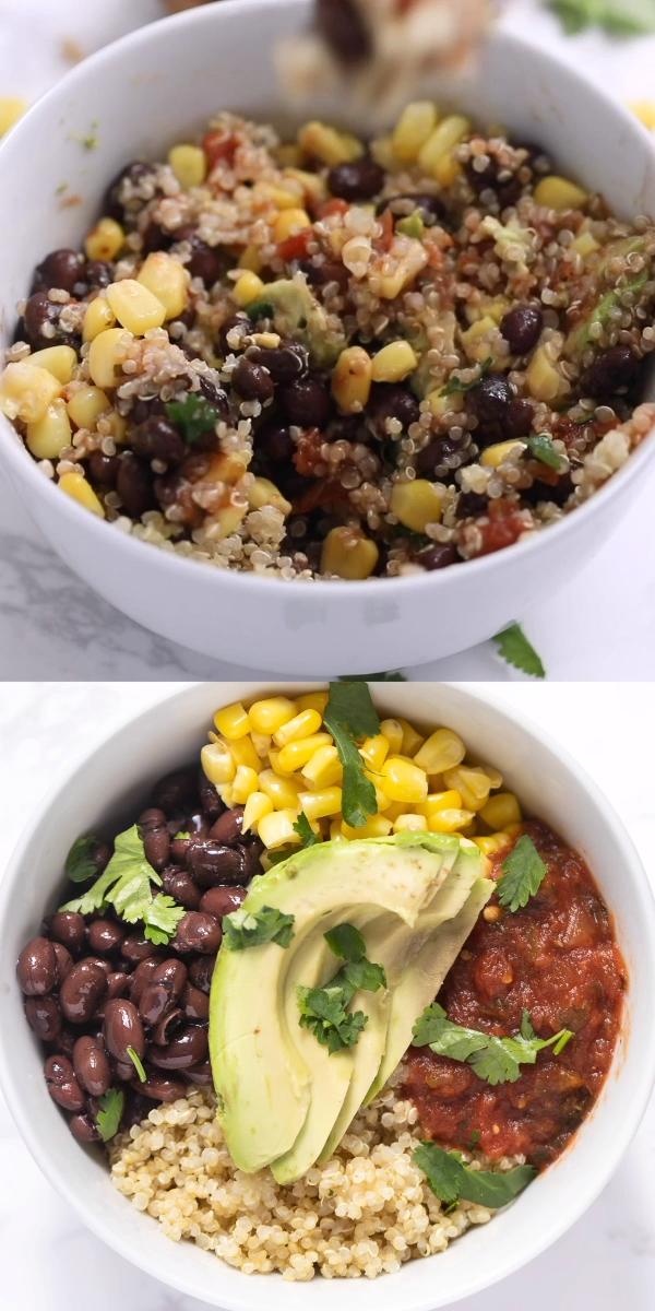 Vegan Mexican Quinoa Bowls