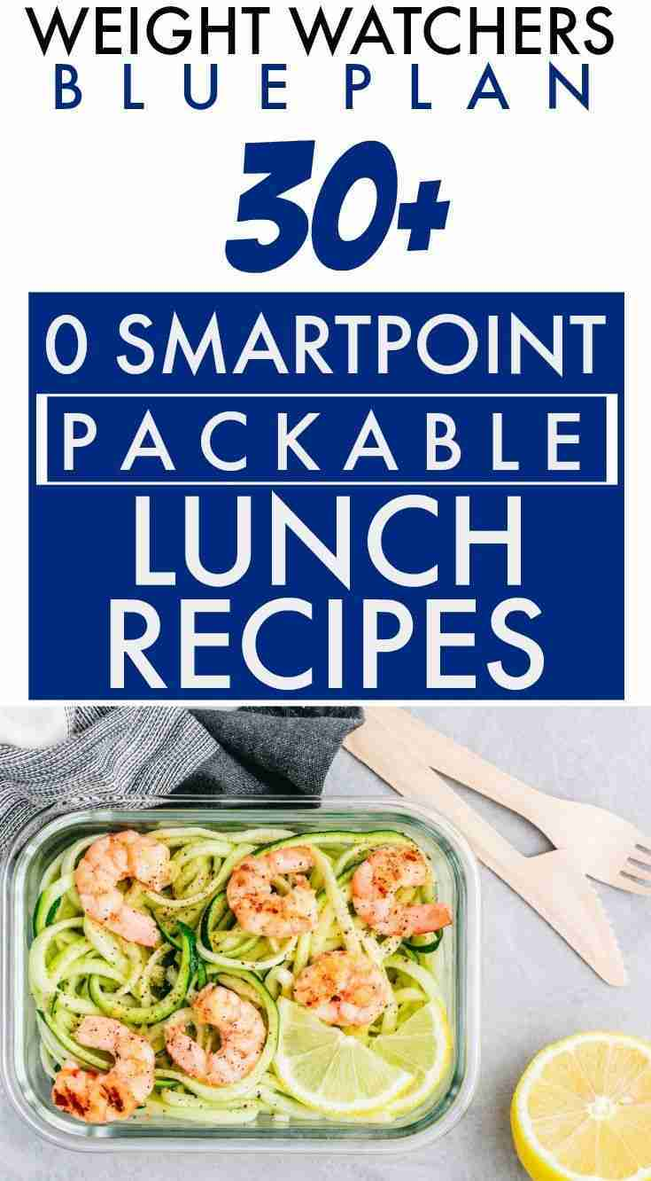 Weight Watchers Blue Plan (Freestyle) 0 SmartPoint Packable Lunch Recipes Galore