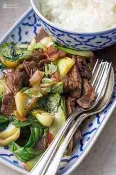 Asiatisches Rind mit Pak Choi und Chili – Madame Cuisine