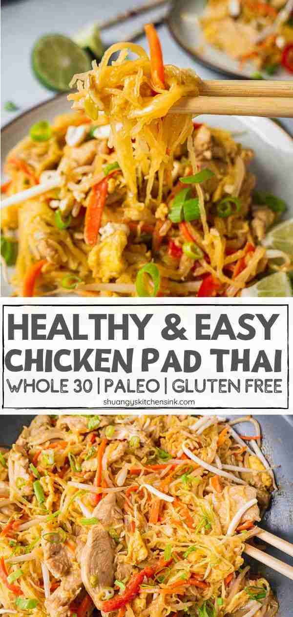 Chicken Pad Thai Noodles (Whole30)