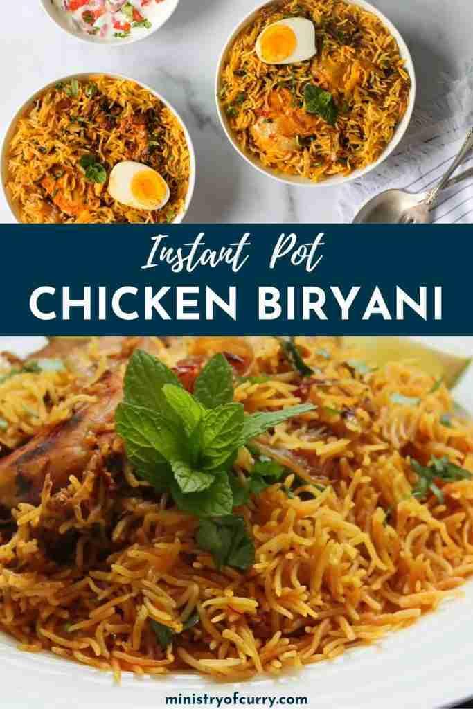 EASY Instant Pot Chicken Biryani