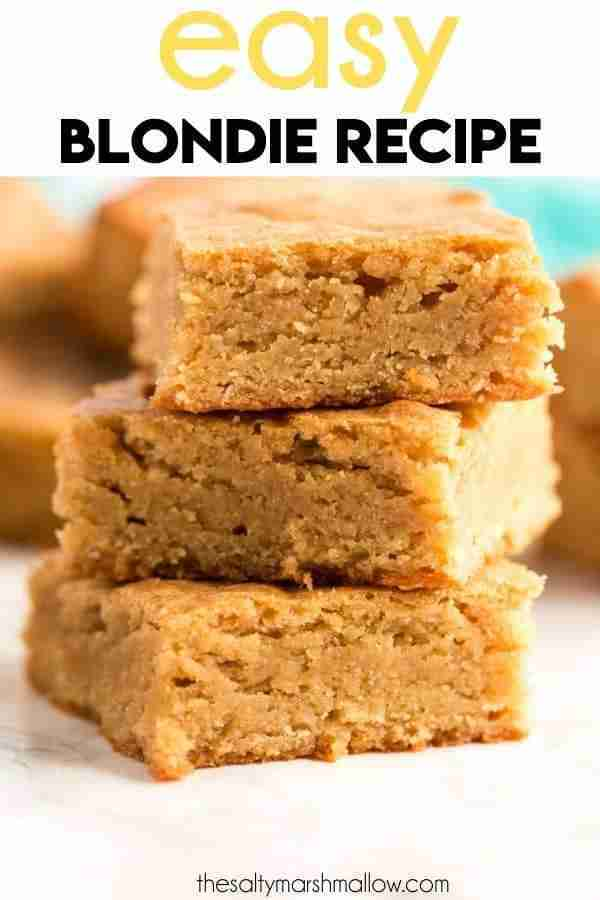 Easy Blondie Recipe – The Salty Marshmallow