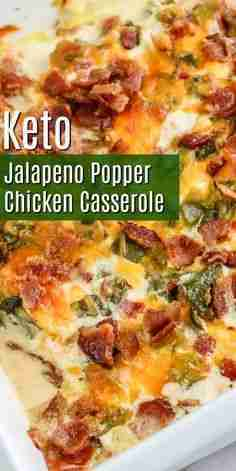 Easy Keto Jalapeno Popper Casserole – This hearty filling casserole is the perfe…