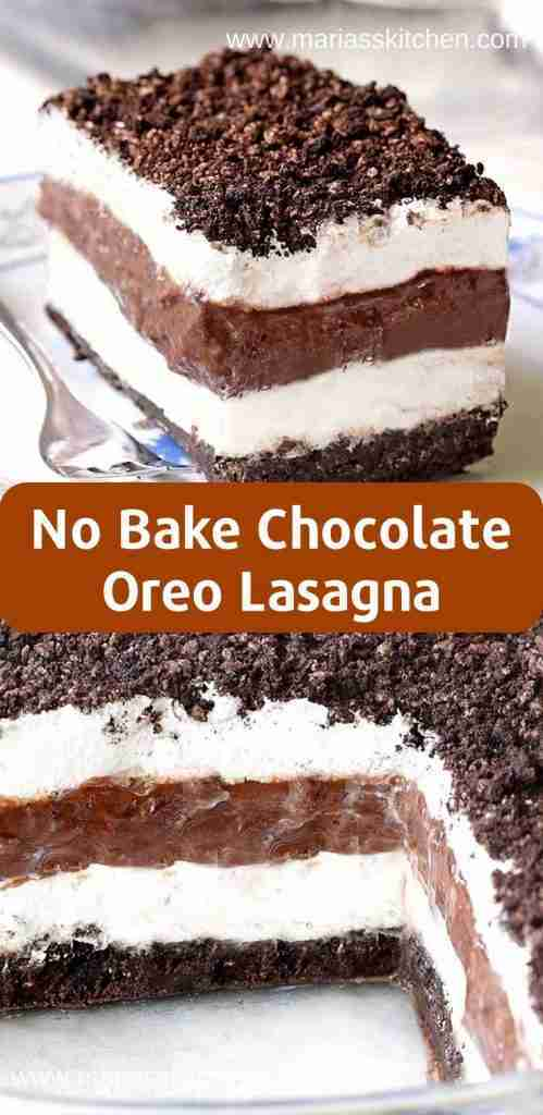 Easy No Bake Chocolate Oreo Lasagna