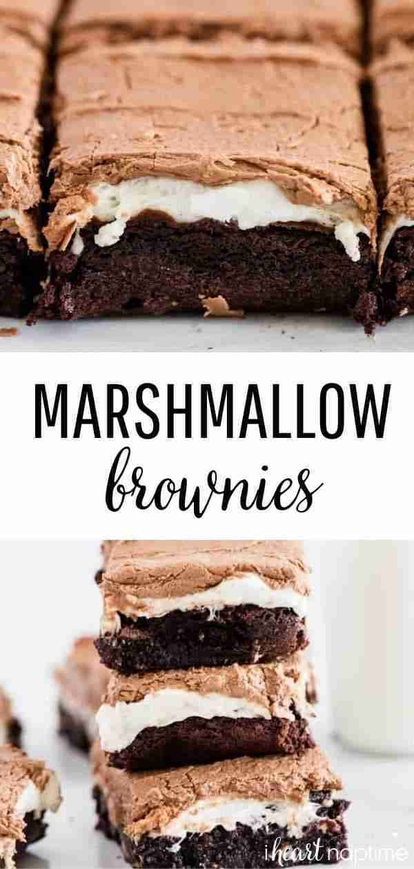 Fudgy Marshmallow Brownies – I Heart Naptime