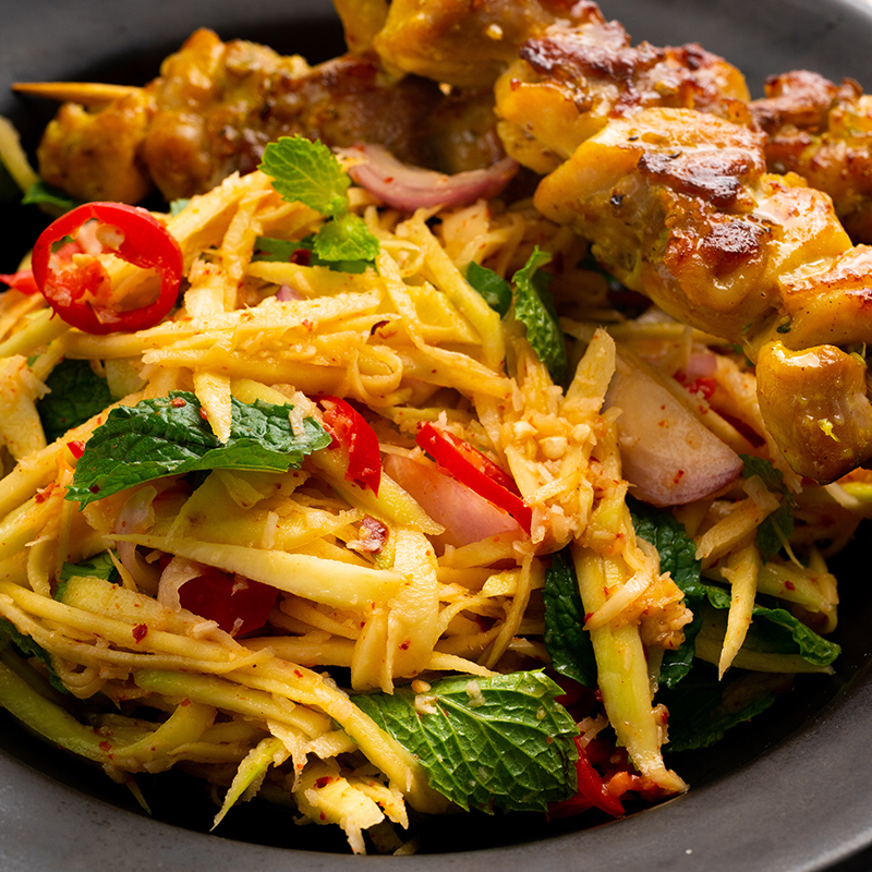Grilled Pepper Chicken & Green Mango Salad – Marion's Kitchen