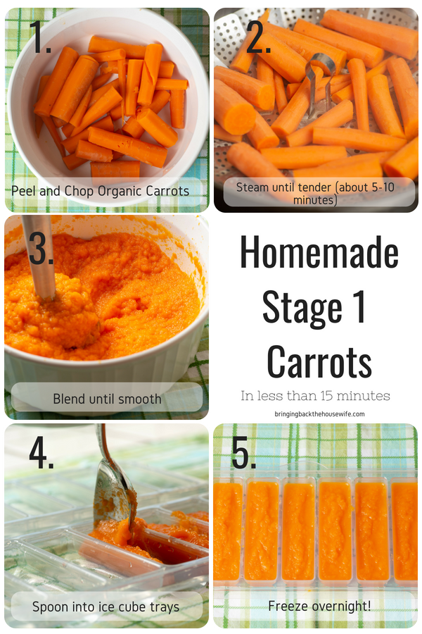 Homemade Stage 1 Baby Food Recipes – Bringing Back the Housewife