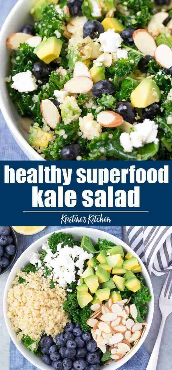 Kale Quinoa Salad with Blueberries