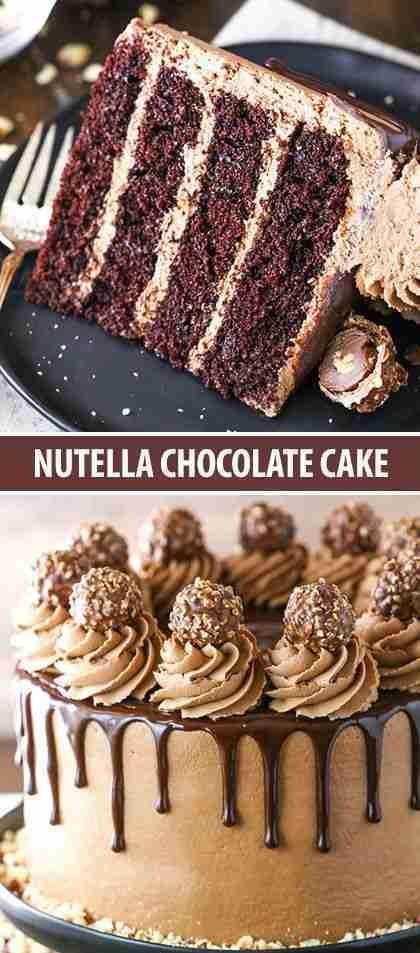 Nutella Chocolate Cake – Easy Chocolate Cake Recipe!