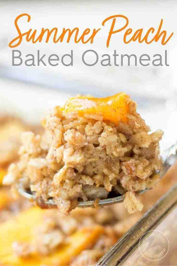 Peach Pecan Baked Oatmeal