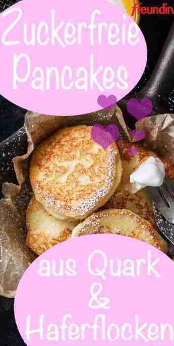Rezept: Zuckerfreie Pancakes aus Quark und Haferflocken   freundin.de