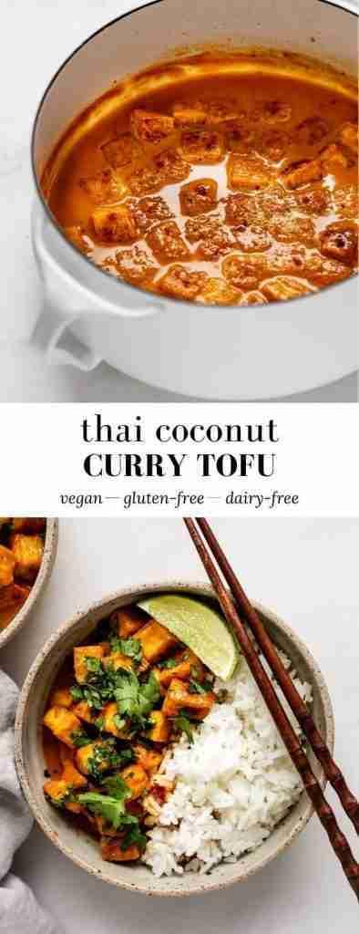 Thai coconut curry tofu