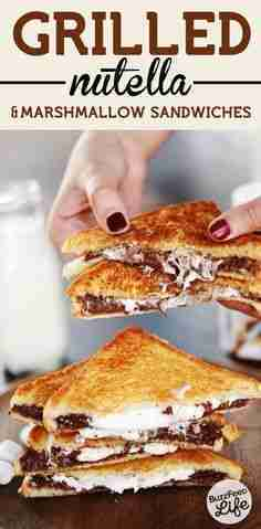 3. Grilled Nutella & Marshmallow Sandwiches