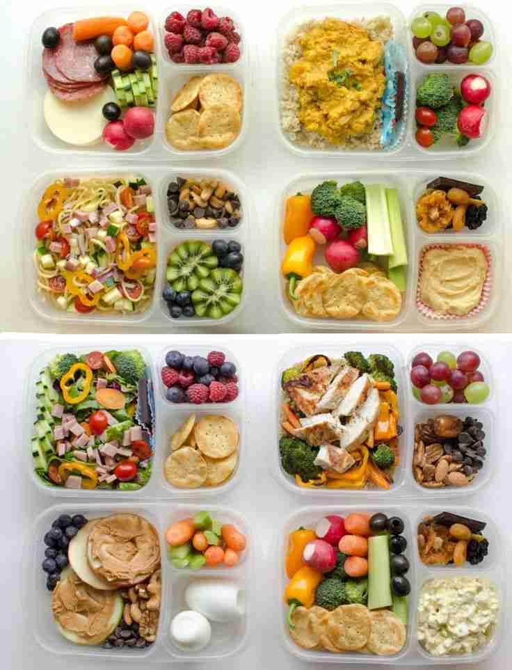 8 Adult Lunch Box Ideas | Healthy Meal Prep Recipes for Work Lunches