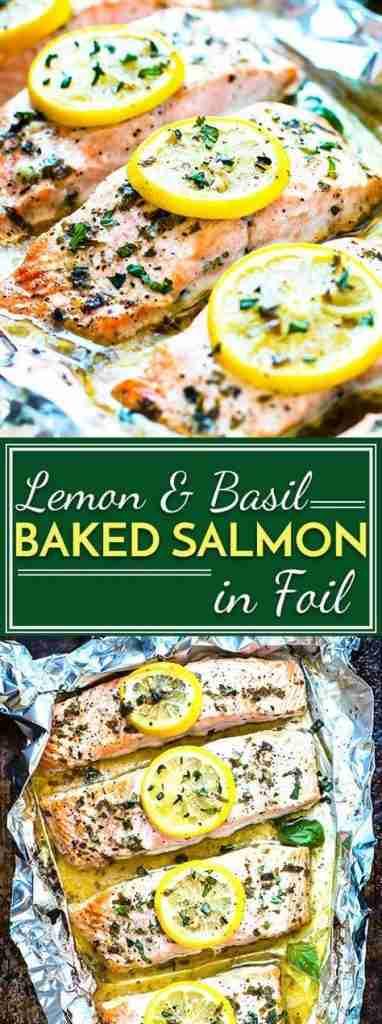 Basil & Lemon Baked Salmon in Foil | Easy + Low-Carb – Evolving Table