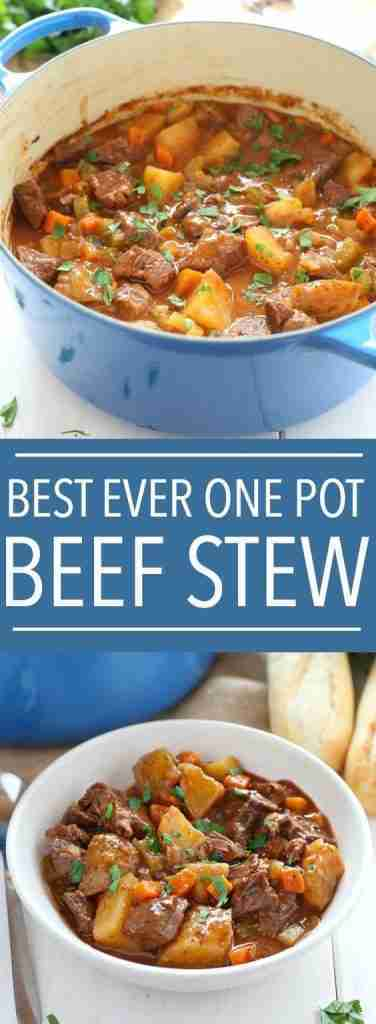 Best Ever One Pot Beef Stew – The Busy Baker