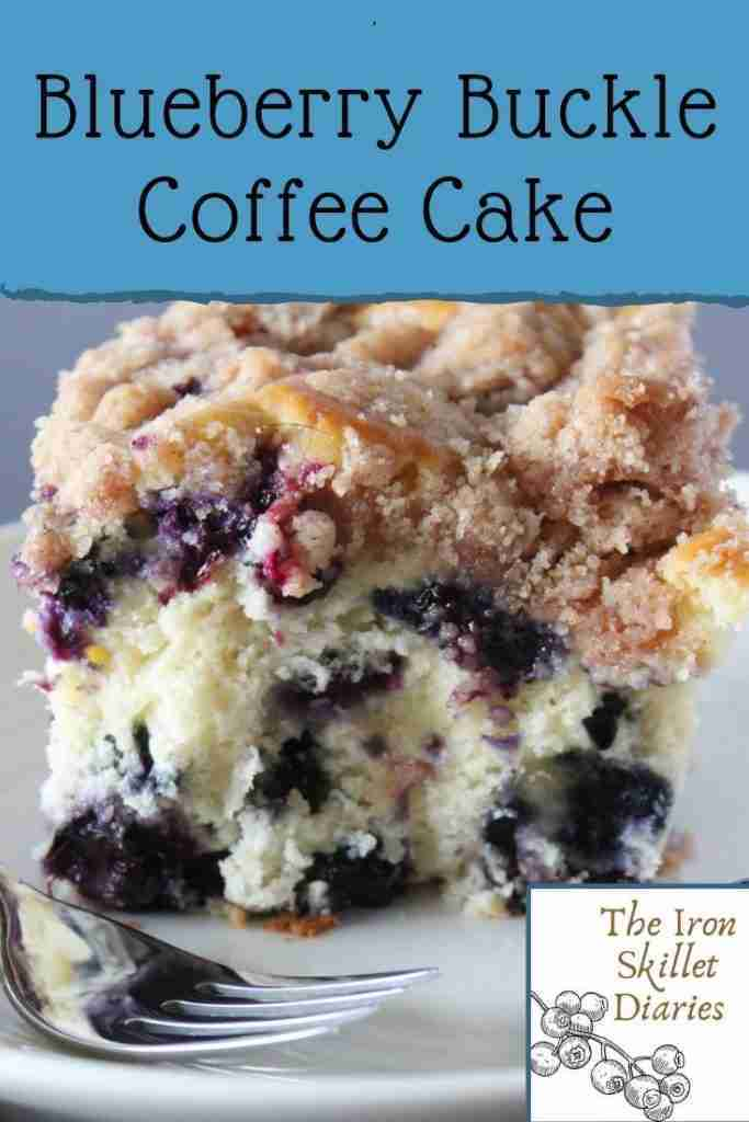 Blueberry Buckle Coffee Cake – The Iron Skillet Diaries