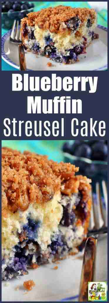 Blueberry Muffin Streusel Cake for brunch or breakfast