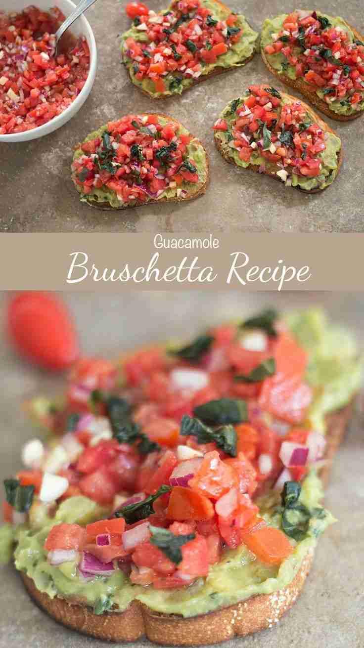 Bruschetta Recipe With Guacamole | Healing Tomato Recipes