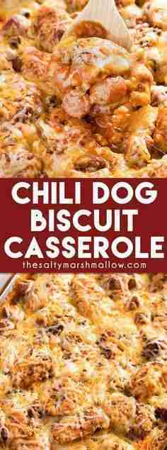 Chili Dog Biscuit Casserole – The Salty Marshmallow