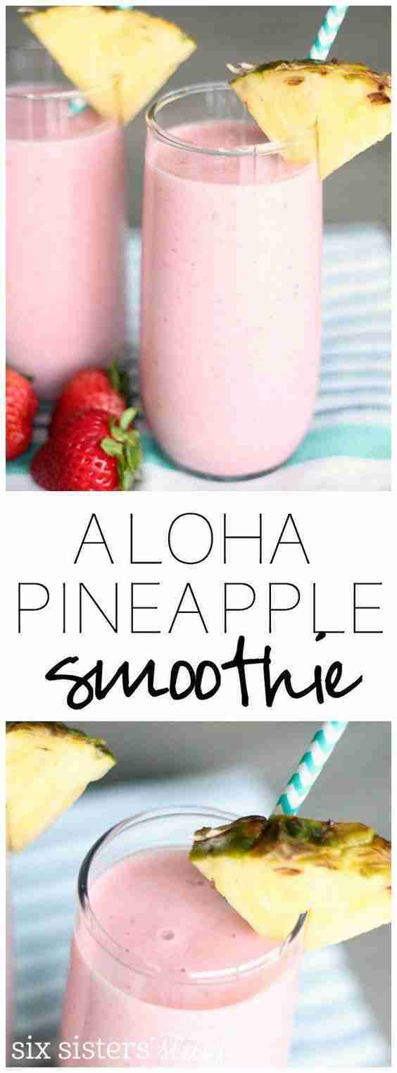 Copycat Jamba Juice Aloha Pineapple Smoothie
