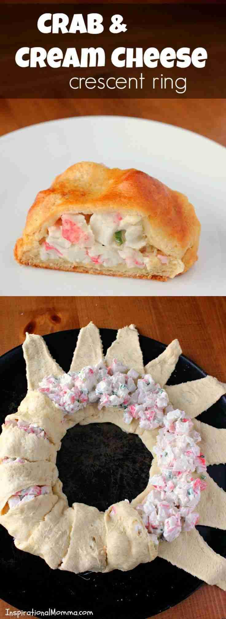 Crab & Cream Cheese Crescent Ring Recipe