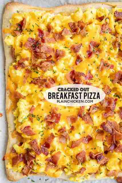 Cracked Out Breakfast Pizza – Plain Chicken