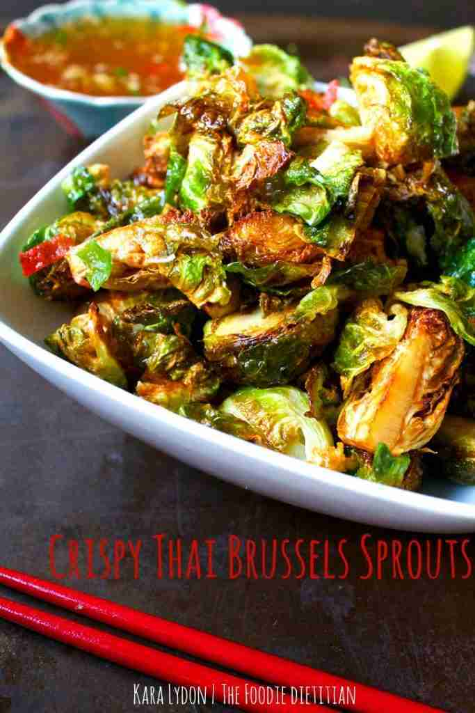 Crispy Brussels Sprouts with Thai Sauce
