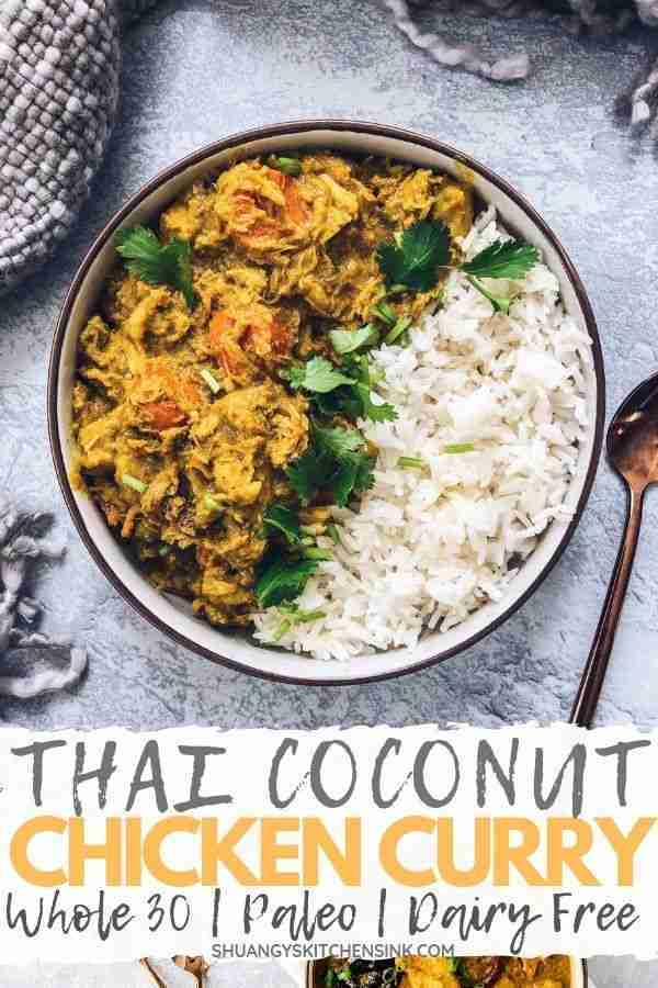 Crockpot Thai Coconut Curry Chicken – Shuangy's Kitchensink