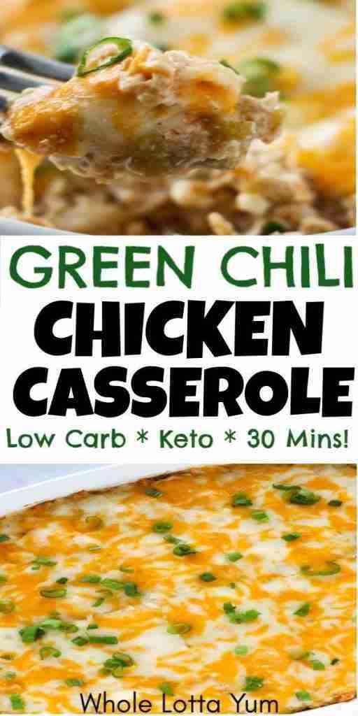 Easy Chicken Green Chili Casserole