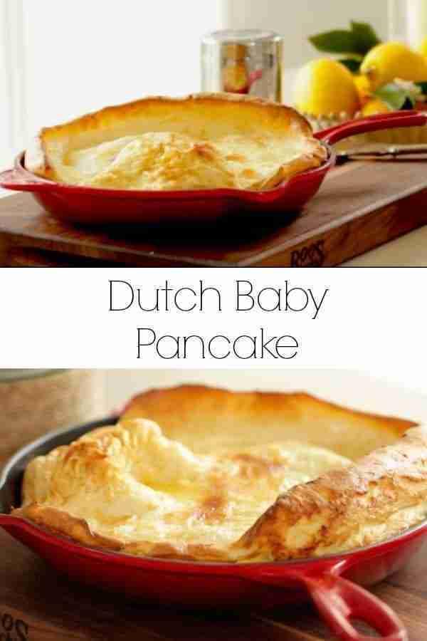 Easy Dutch Baby Pancake Recipe- Entertaining with Beth