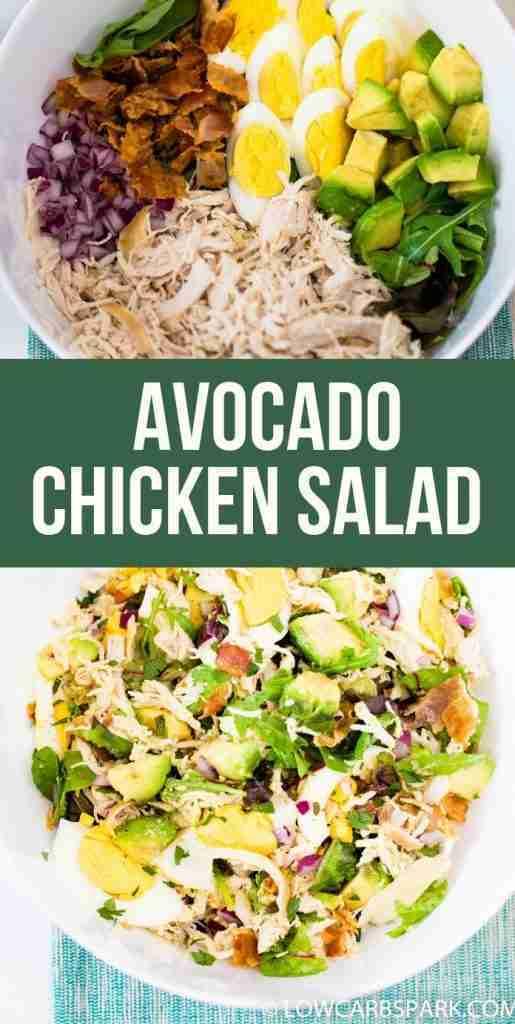 Easy Keto Chicken Salad with Avocado & Bacon – LowCarbSpark