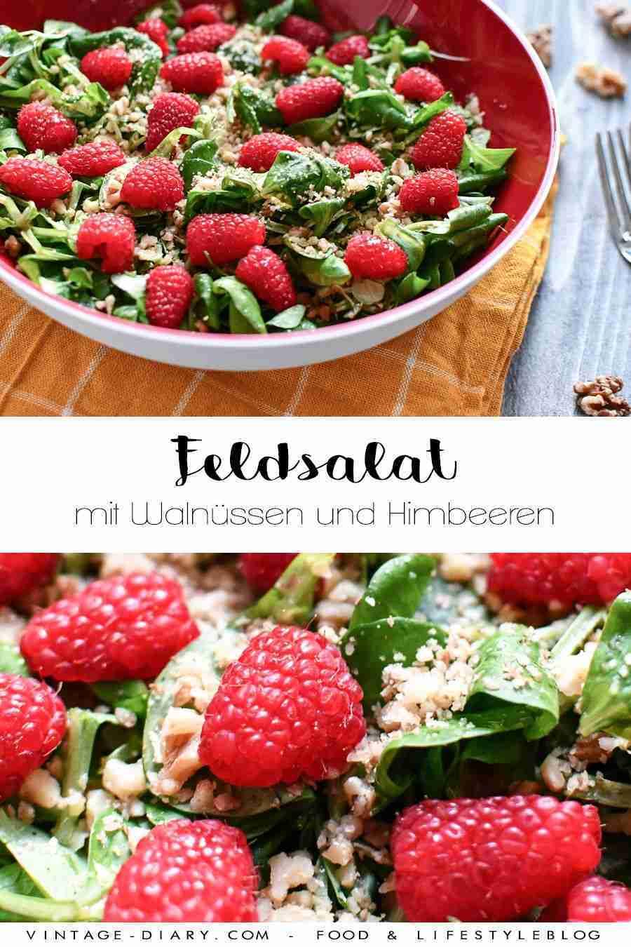 Feldsalat mit Walnüssen und Himbeeren – vintage-diary