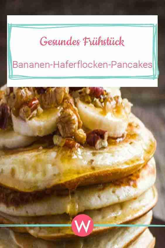 Gesunde Haferflocken-Pancakes mit Bananen | Wunderweib