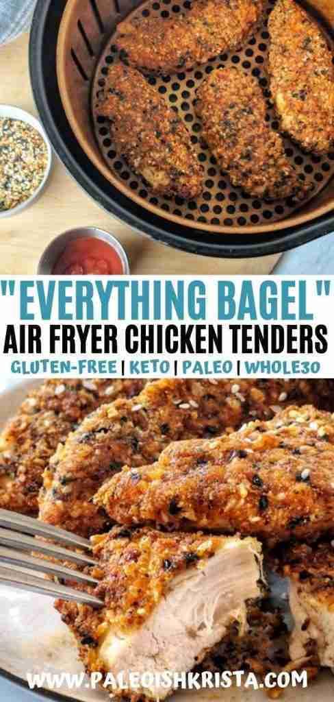 Gluten-Free Everything Bagel Chicken Tenders | Paleoish Krista