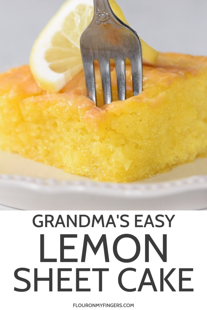 Grandma's Easy Lemon Sheet Cake