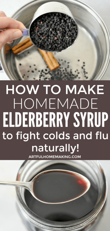 How to Make Elderberry Syrup on the Stovetop