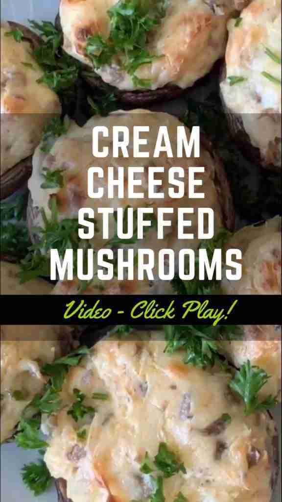Keto Stuffed Mushrooms with Cream Cheese