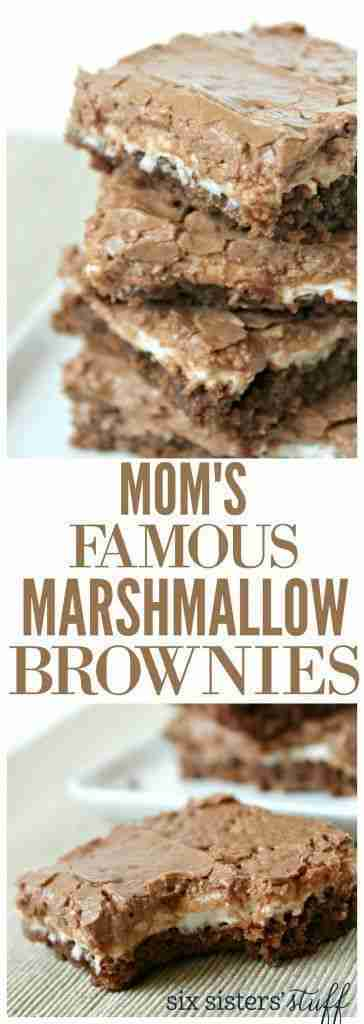 Mom's Famous Chocolate Marshmallow Brownies / Six Sisters' Stuff