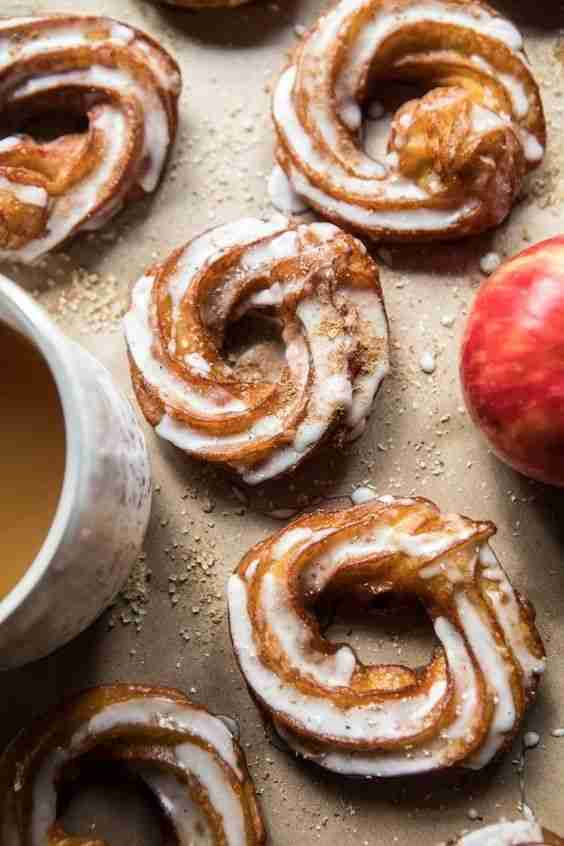 Mulled Apple Cider Chai French Crullers. – Half Baked Harvest