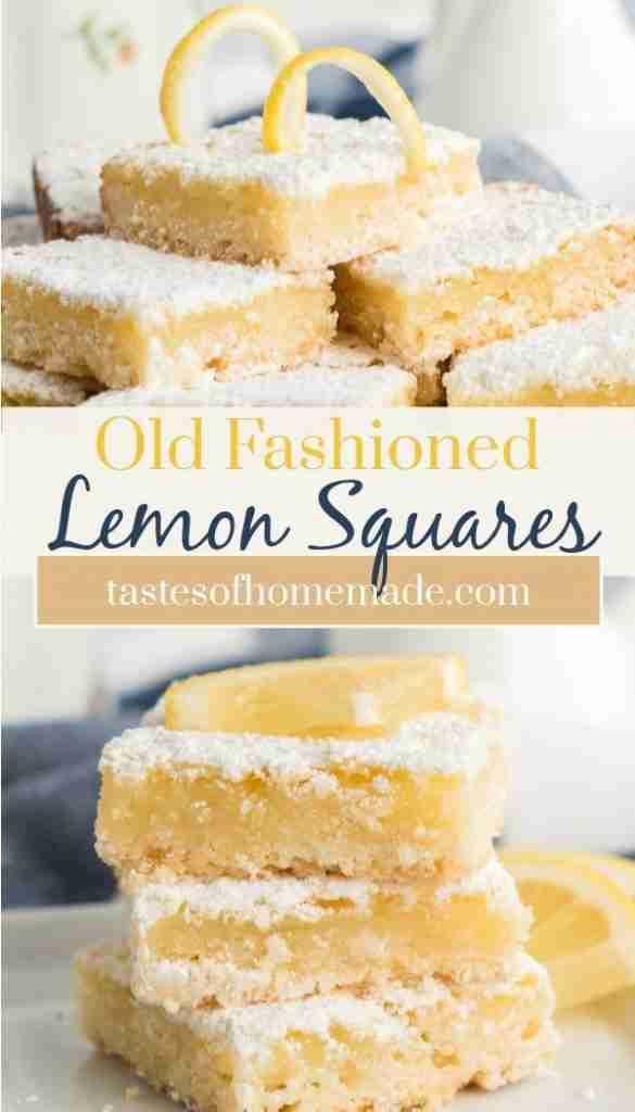Old Fashioned Lemon Squares