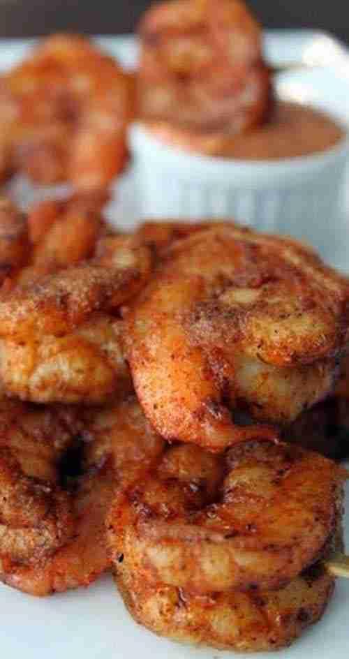 Recipe for Louisiana Cajun Shrimp with Chipolte Mayonnaise