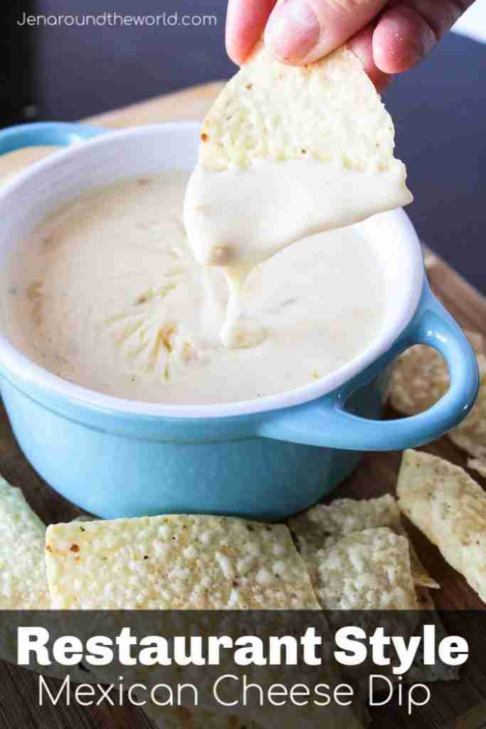 Restaurant Style Mexican Cheese Dip – Jen Around the World