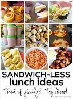 Sandwichless Lunch Ideas