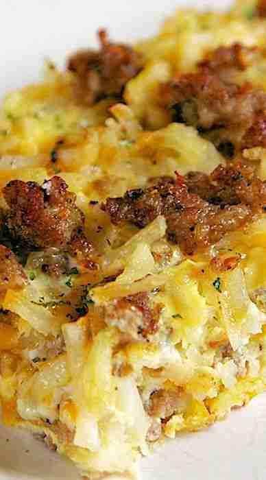 Sausage Hash Brown Breakfast Casserole – Plain Chicken