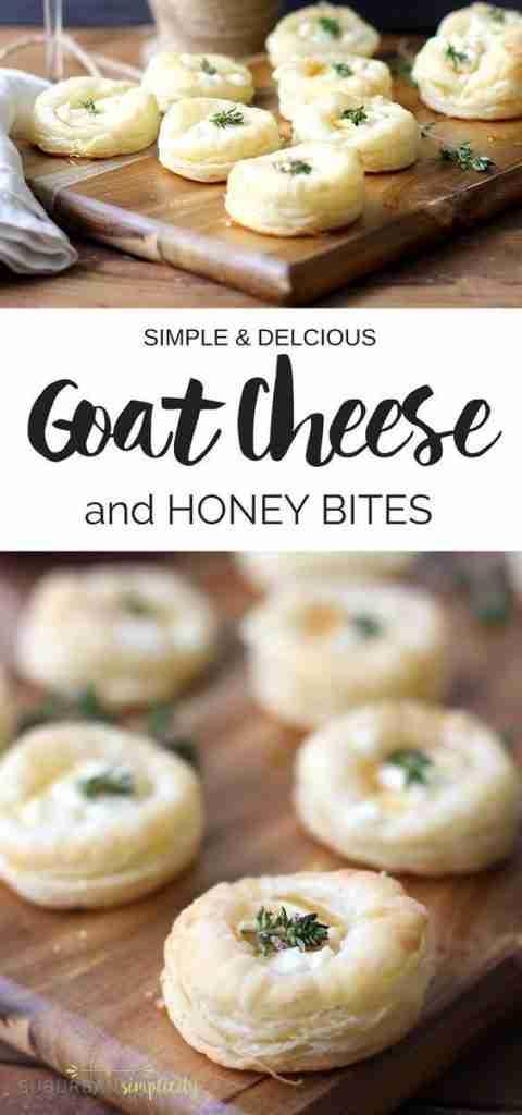 Savory Goat Cheese and Honey Bites